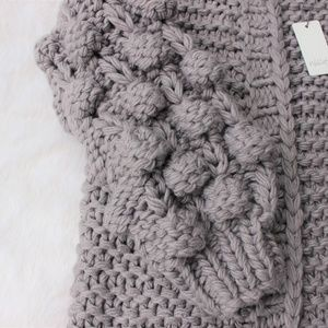 Popcorn Sleeve Sweater NWT